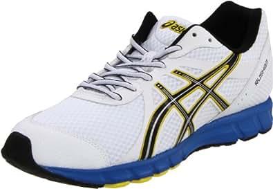ASICS Men's Rush33 Running Shoe,White/Black/Brilliant Blue,7 M US