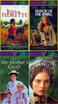 Jean De Florette/ Manon of the Spring/ My Mother's Castle/ Adele H.(4 Pack) Original French Version With English Subtitles