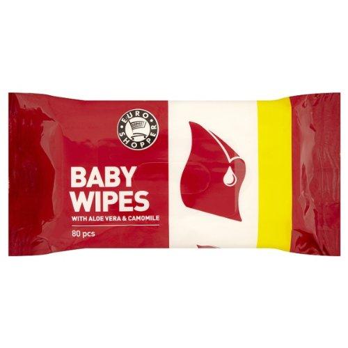 ES Baby Wipes Euroshopper Euro Shopper Toiletries Own Label 80s - Pack of 6