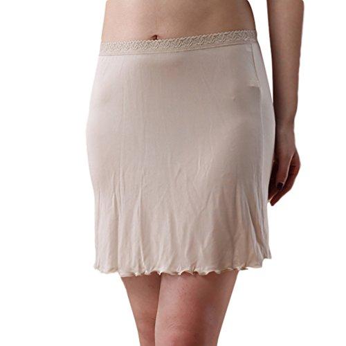 Baymate-Damen-Underwear-Stricken-Knielanger-Unterrock-Unterkleid