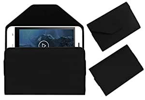 Acm Premium Pouch Case For Intex Aqua Wave Flip Flap Cover Holder Black