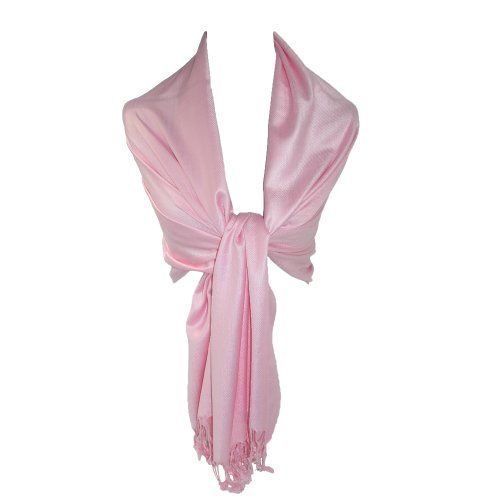 Women's Pashmina Shawl Wraps (Pink)