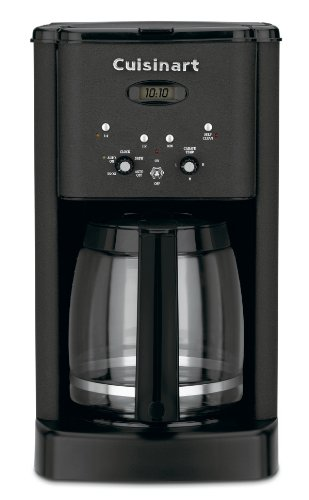 Cuisinart DCC-1200BW Brew Central 12-Cup Programmable Coffeemaker, Matte Black Metal