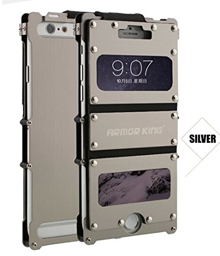 "Double-lin Armor King Iron Man Cool Luxury Metal Aluminum Case Cover For Apple iphone 6 4.7"" (Silver)"