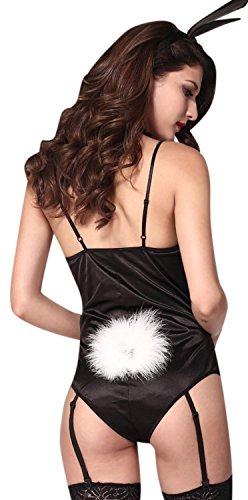 [Anmengte Halloween Masquerade Party Costume Lingerie Sexy Bunny Girl Bodysuit Sets (One size,] (Cheap Sexy Halloween Costumes Ideas)
