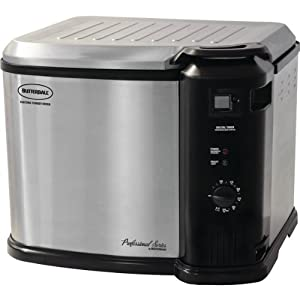 MASTERBILT 23011114 Extra-Large Indoor Electric Turkey Fryer with Analog Timer by Masterbuilt