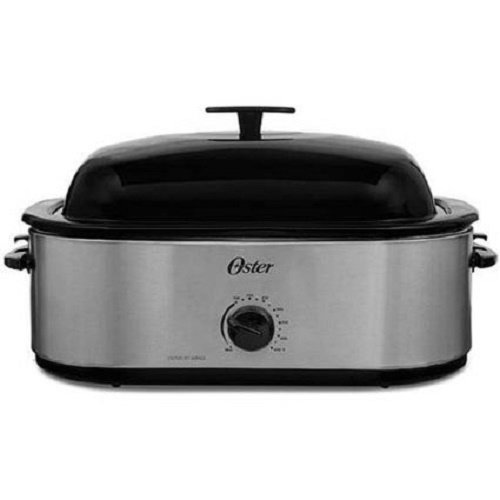 Oster CKSTRS18 24LB Turkey Roaster Oven with High Dome 18-Quart, Stainless Steel (Variable Temperature Slow Cooker compare prices)