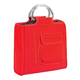 red lunch bag insulated