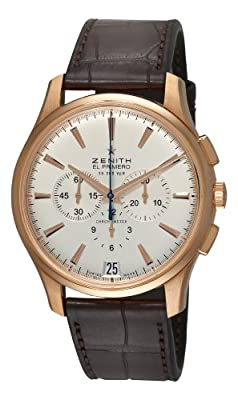 Zenith Men's 18.2110.400/01.c498 El Primero 36'000 VPH Rose-Gold Silver Sunray Chronograph Dial Watch by Zenith