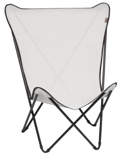 Lafuma maxi pop cannage fauteuil pliant kaolin tube marron mobilier de camp - Fauteuil pop up lafuma ...