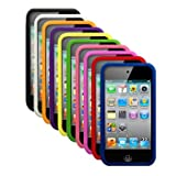 Cbus Wireless Ten Silicone Cases / Skins / Covers for Apple iPod Touch 4 / 4G / 4th Gen - Black, White, Orange, Purple, Yellow, Green, Light Pink, Hot Pink, Red, Blue