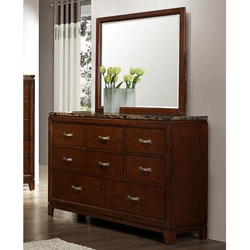 Homelegance Bleeker 8 Drawer Dresser w/ Faux Marble Top
