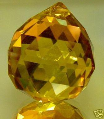 40mm Vintage Crystal Yellow Feng Shui Ball