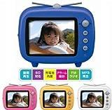 GAUDI GHV-DF35TVシリーズ レトロポップなFMラジオ搭載 テレビ型デジタルフォトフレーム