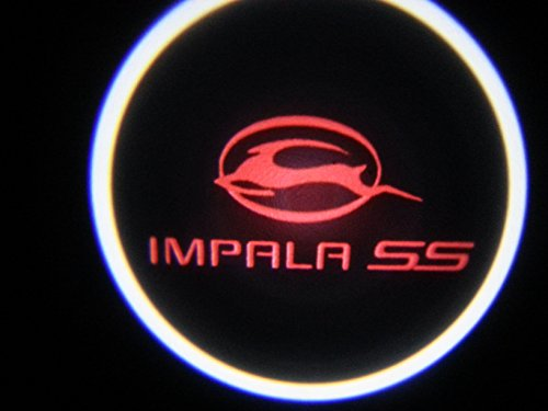 Red Impala Ss Chevy Ghost Door Logo Projector Shadow Puddle Laser Led Lights 7W (Qty 2)