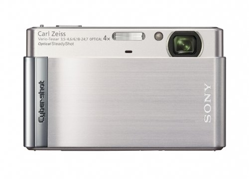 Sony Cyber-shot DSC-T90 12.1 MP Digital Camera with 4x Optical Zoom and Super Steady Shot Image Stabilization (Silver)