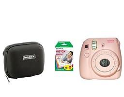 Fujifilm Instax Mini 8 Pink Camera + 20 Mini Images + case
