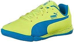 PUMA Evospeed Star IV JR Sneaker (Little Kid/Big Kid) , Safety Yellow/Atomic Blue, 12 M US Little Kid