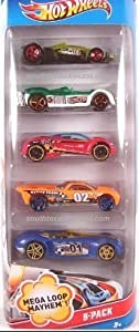 Hot Wheels 5-Pack Mega Loop Mayhem. 1:64 Scale.