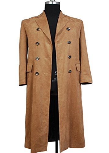[Dben Men's Brown Long Trench Coat Suit Costume Custom Made] (Settlers Of Catan Costumes)