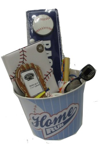 Baseball Lover's Gift Basket - for Get Well, Birthday, Easter, Christmas, or Other Special Ocassion