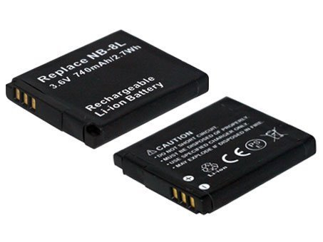 3.60V,740mAh,Li-ion,Replacement Digital Camera Battery for CANON PowerShot A3000 IS, PowerShot A3100 IS,PowerShot A3200 IS, PowerShot A3300 IS,Compatible Part Numbers:NB-8L