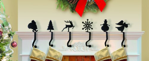 iron 9 toy soldier christmas stocking winter fireplace mantel hook mantle hanger home garden. Black Bedroom Furniture Sets. Home Design Ideas