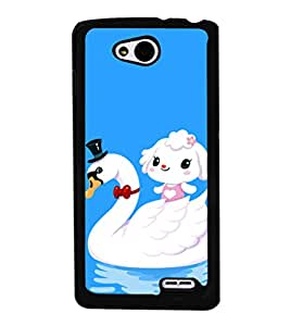 printtech Cute Duck Water Girl Back Case Cover for LG L90