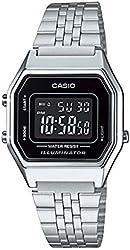 Casio Ladies Mid-Size Silver Digital Retro Watch LA-680WA-1BDF