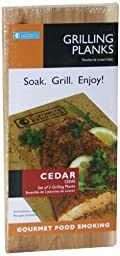 Grilling Planks - Set of 2 Cedar BBQ Grill Planks - Thicker for Longer Use