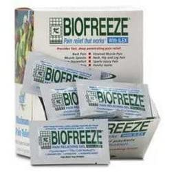 BIOFREEZE with ILEX Pain Relieving Gel - 5 Gram Packs -Dispenser Box 100 per Box