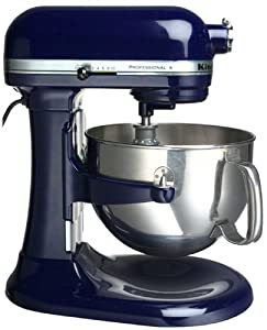 Factory-Reconditioned KitchenAid RKP2671XBU Professional 6-Quart Stand Mixer, Cobalt Blue
