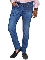 Scorzio Men's Regular Fit Jeans (SZ0009_2_Blue_32)