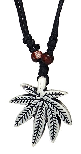 Rasta Necklace - Handmade Rastafari Necklace - Marijuana Pot Leaf Necklace