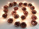 Gadgetbucket Golden Diya Set For All Festival Spiritual Decoration 20 LED Diya