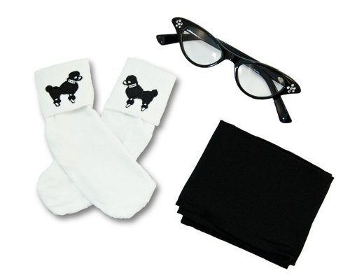 Toddler 3 Pc - 50'S Accessory Set (Black)