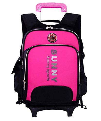Coofit Children's Book Bag Kids Rolling Wheeled Schoolbag