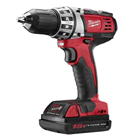 Milwaukee 2601-22 18-Volt Li-ion Compact Drill Kit