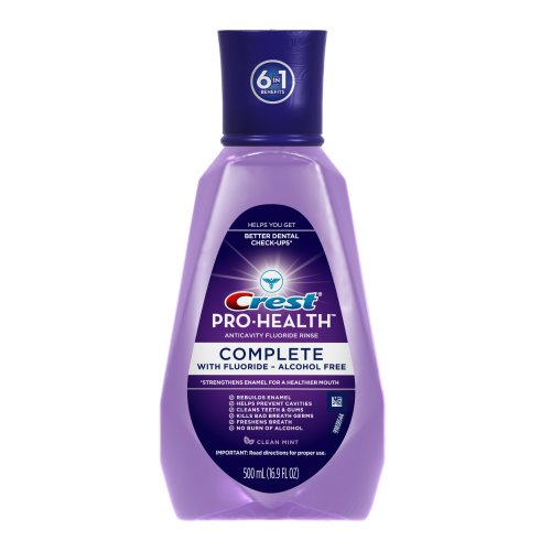 Crest Pro-Health Complete Clean Mint Fluoride Mouthwash 500 Ml (Pack Of 12)