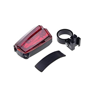BestDealUSA Bicycle 5 LED Rear Tail Red Bike Torch Laser Beam Light Lamp