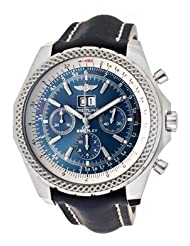 Men's Breitling For Bentley Auto/Mechanical Chrono Blue Dial Blue Genuine Leather