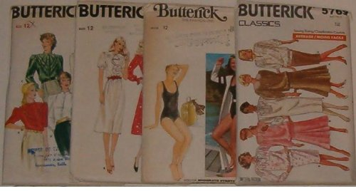 Butterick Vintage Sewing Patterns Size 12 front-932496
