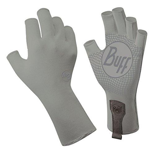 Buff sport water 2 gloves light grey small medium for Buff fishing gloves