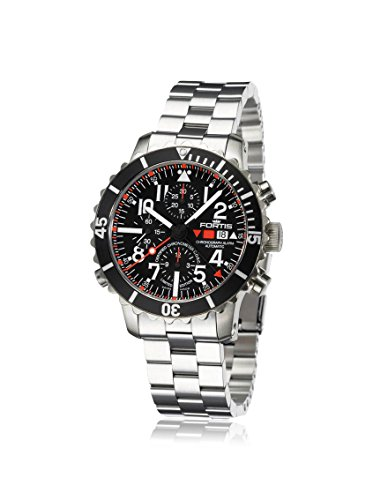 Fortis Mens 673.10.41 M B-42 Marinemaster Alarm Silver/Black Stainless Steel Watch
