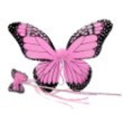Monarch Butterfly Wing & Wand Set (More Colors...) Select Color: pink - 1
