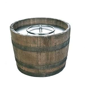 Amazon.com : Cement Wine Barrel Fire Pit : Patio, Lawn & Garden