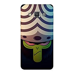 Ajay Enterprises Green Black Mojs Back Case Cover for Galaxy A3