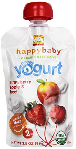 Happy Baby Greek Yogurt Strawberry, Apple & Beet, Stage 2 - 1