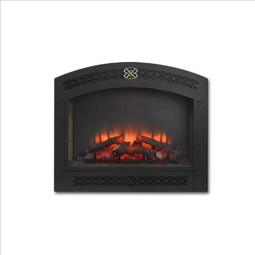 Outdoor GreatRoom Company Full Arch Electric Fireplace Front for GBI-41 in Matte Black image B00CE6UBR0.jpg