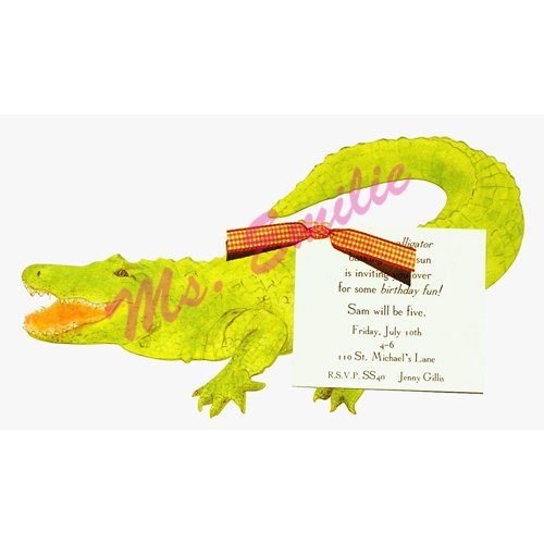 Alligator Die-Cut Card, Pack Of 10 front-941419